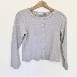 Vintage Striped Cotton Button Sweatshirt